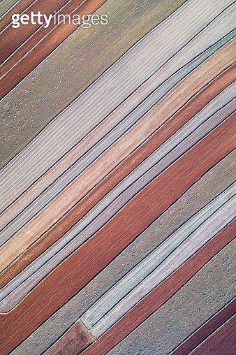 Cultivated farmland as seen from above, Spain - gettyimageskorea