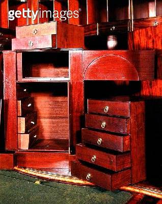 <b>Title</b> : Murray cabinet, detail of secret compartments, c.1745 (photo) (see also 144858-9 & 144861)<br><b>Medium</b> : <br><b>Location</b> : Leeds Museums and Art Galleries (Temple Newsam House) UK<br> - gettyimageskorea