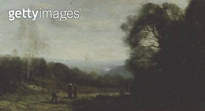<b>Title</b> : In the Hills Above Ville D'Avray<br><b>Medium</b> : oil on canvas<br><b>Location</b> : Private Collection<br> - gettyimageskorea