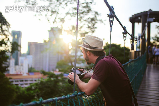 Young solo traveler in Kuala Lumpur, Malaysia - gettyimageskorea