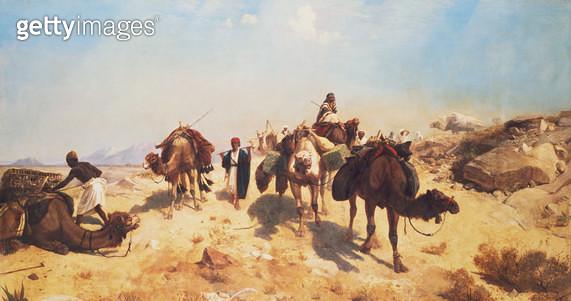 <b>Title</b> : Crossing the Desert<br><b>Medium</b> : <br><b>Location</b> : Private Collection<br> - gettyimageskorea