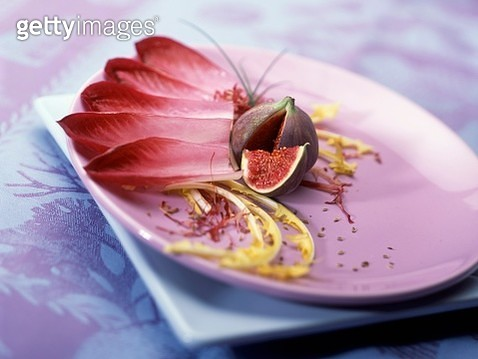 Red chicory and fig salad - gettyimageskorea