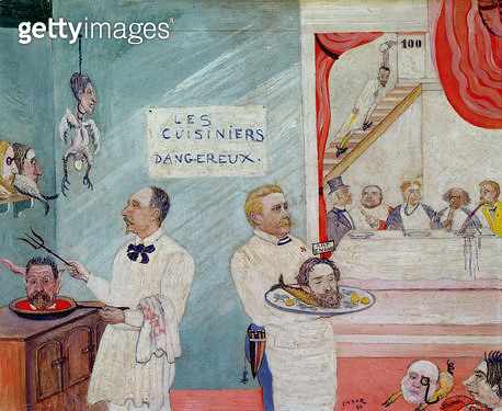 <b>Title</b> : The Dangerous Cooks, 1896 (oil on panel)<br><b>Medium</b> : oil on panel<br><b>Location</b> : Private Collection<br> - gettyimageskorea