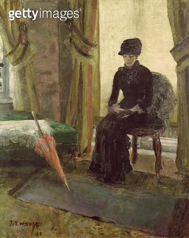<b>Title</b> : The Sombre Woman, 1881 (oil on canvas)<br><b>Medium</b> : oil on canvas<br><b>Location</b> : Musees Royaux des Beaux-Arts de Belgique, Brussels, Belgium<br> - gettyimageskorea