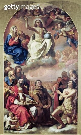 <b>Title</b> : The Glory of the Saints, 1645-47 (oil on canvas)Additional InfoLa Gloire de tous les saints;<br><b>Medium</b> : oil on canvas<br><b>Location</b> : Musee des Augustins, Toulouse, France<br> - gettyimageskorea