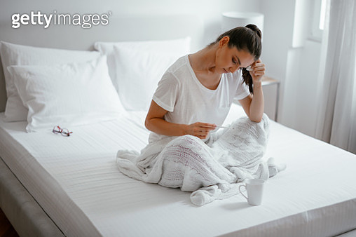 Sick at home - gettyimageskorea