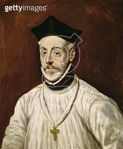 <b>Title</b> : Don Diego de Covarrubias y Leiva (1512-77) c.1600-05 (oil on canvas)<br><b>Medium</b> : oil on canvas<br><b>Location</b> : Casa y Museo del Greco, Toledo, Spain<br> - gettyimageskorea