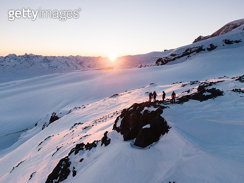 While climbing Mt Elbrus, highest point in Europe - gettyimageskorea
