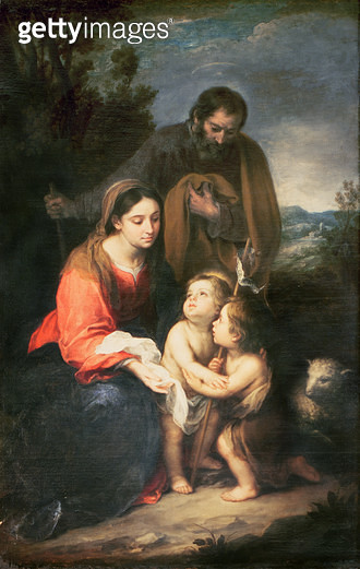 <b>Title</b> : The Holy Family<br><b>Medium</b> : <br><b>Location</b> : Belvoir Castle, Leicestershire, UK<br> - gettyimageskorea