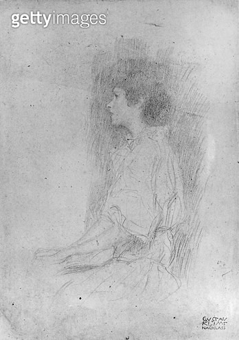<b>Title</b> : Seated Girl in Shadow (pencil on paper) (b/w photo)<br><b>Medium</b> : pencil on paper<br><b>Location</b> : Private Collection<br> - gettyimageskorea