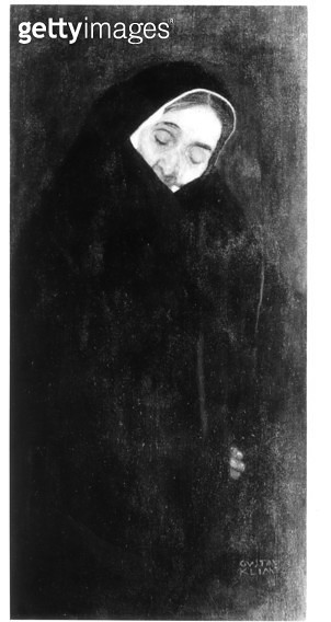 <b>Title</b> : Old Woman, 1909 (oil on canvas) (b/w photo)<br><b>Medium</b> : oil on canvas<br><b>Location</b> : Private Collection<br> - gettyimageskorea
