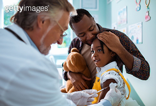 Little girl getting vaccinated - gettyimageskorea