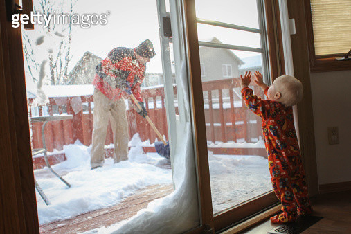 Moving Snow - gettyimageskorea