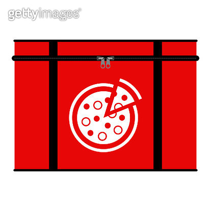 Insulated pizza delivery bag illustration - gettyimageskorea