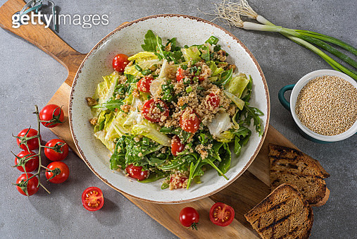 Quinoa Salad with Cherry Tomatoes and Spring Onions - gettyimageskorea