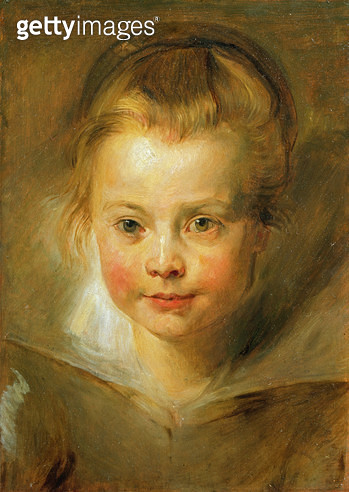 <b>Title</b> : Portrait of Rubens' daughter Clara Serena (1611-23) after Peter Paul Rubens (1577-1640) (oil on panel)Additional Infopossible at<br><b>Medium</b> : oil on panel<br><b>Location</b> : Private Collection<br> - gettyimageskorea