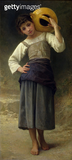 <b>Title</b> : The Water Girl (Young Girl Going to the Spring) 1885 (oil on canvas)Additional InfoJeune Fille Allant a la Fontaine;<br><b>Medium</b> : oil on canvas<br><b>Location</b> : Dahesh Museum of Art, New York, USA<br> - gettyimageskorea