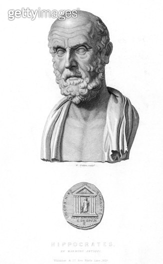 HIPPOCRATES (c460-c377 B.C.). /nGreek physician. Steel engraving, English, 1839. - gettyimageskorea