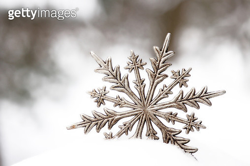 Silver Snowflake During Winter - gettyimageskorea