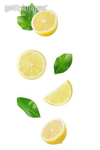 Lemons Against White Background - gettyimageskorea
