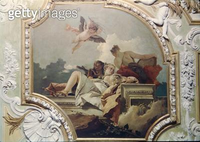 <b>Title</b> : Humility, Indulgence and Truth, from the 'Sala Capitolare' (Hall of Surrender) c.1749 (fresco)Additional Infol'humilite, la mans<br><b>Medium</b> : fresco<br><b>Location</b> : Scuola Grande dei Carmini, Venice, Italy<br> - gettyimageskorea