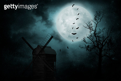 Old mill with bats - gettyimageskorea