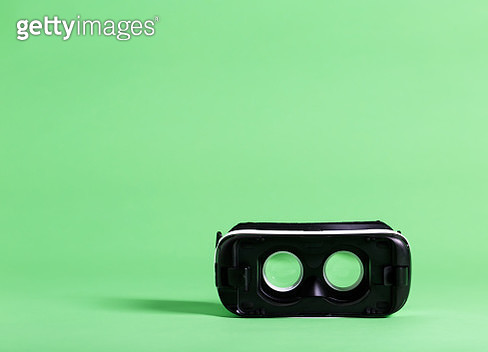Virtual reality headset device - gettyimageskorea