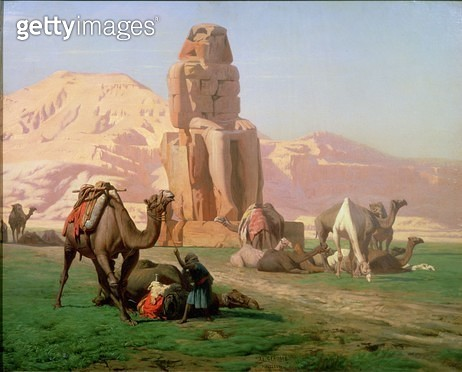 <b>Title</b> : The Colossus of Memnon, 1857<br><b>Medium</b> : <br><b>Location</b> : Private Collection<br> - gettyimageskorea