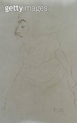<b>Title</b> : Woman in Profile, c.1904-06 (pencil on paper) (b/w photo)<br><b>Medium</b> : pencil on paper<br><b>Location</b> : Private Collection<br> - gettyimageskorea