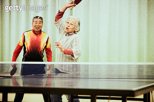 Senior table tennis team is healthy and active - gettyimageskorea