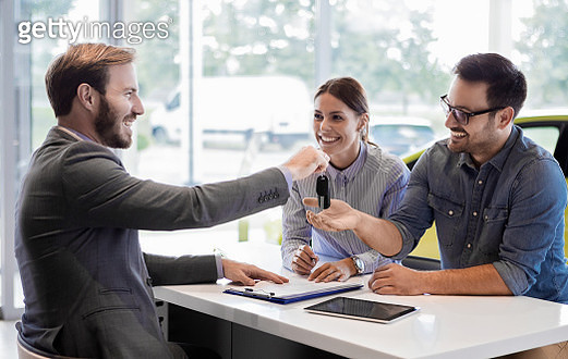 Buying a car in auto salon - gettyimageskorea