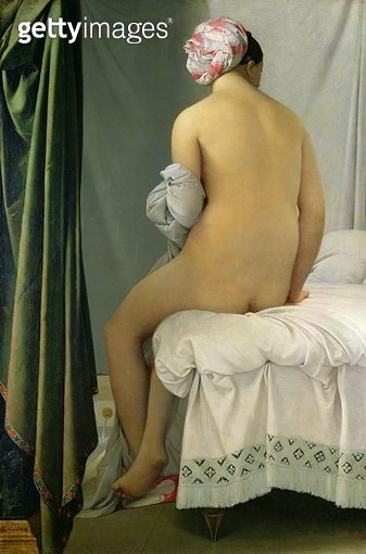 <b>Title</b> : The Bather, called 'Baigneuse Valpincon', 1808 (oil on canvas)<br><b>Medium</b> : oil on canvas<br><b>Location</b> : Louvre, Paris, France<br> - gettyimageskorea