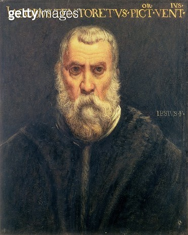 <b>Title</b> : Portrait of Jacopo Tintoretto after Tintoretto<br><b>Medium</b> : <br><b>Location</b> : Private Collection<br> - gettyimageskorea