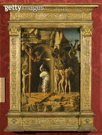 <b>Title</b> : Christ's Descent into Limbo (vellum on panel)<br><b>Medium</b> : vellum on panel<br><b>Location</b> : Bristol City Museum and Art Gallery, UK<br> - gettyimageskorea