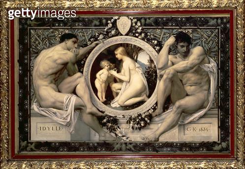 <b>Title</b> : Idylle, 1884<br><b>Medium</b> : oil on canvas<br><b>Location</b> : Wien Museum Karlsplatz, Vienna, Austria<br> - gettyimageskorea