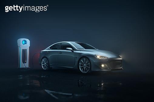 Generic e-car - landscape - gettyimageskorea