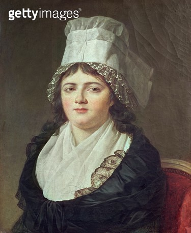 <b>Title</b> : Antoinette Gabrielle Charpentier (d.1793) 1793 (oil on canvas)Additional Infofirst wife of Georges Danton (1759-94); died 17th F<br><b>Medium</b> : oil on canvas<br><b>Location</b> : Church of St. Madeleine, Troyes, France<br> - gettyimageskorea