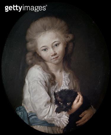 <b>Title</b> : Esprit de Baculard d'Arnaud, 1776 (oil on canvas)<br><b>Medium</b> : oil on canvas<br><b>Location</b> : Musee des Beaux-Arts et d'Archeologie, Troyes, France<br> - gettyimageskorea