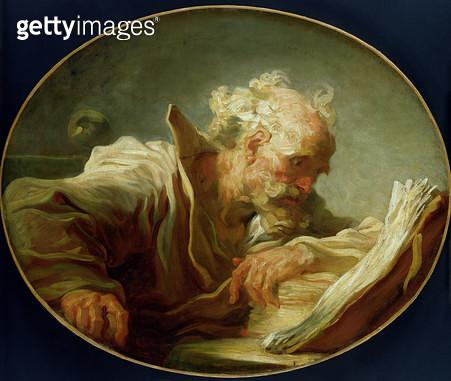 <b>Title</b> : A Philosopher, c.1764 (oil on canvas) (see also 146466)<br><b>Medium</b> : oil on canvas<br><b>Location</b> : Hamburger Kunsthalle, Hamburg, Germany<br> - gettyimageskorea