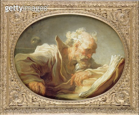 <b>Title</b> : A Philosopher, c.1764 (oil on canvas) (see also 146465)<br><b>Medium</b> : oil on canvas<br><b>Location</b> : Hamburger Kunsthalle, Hamburg, Germany<br> - gettyimageskorea