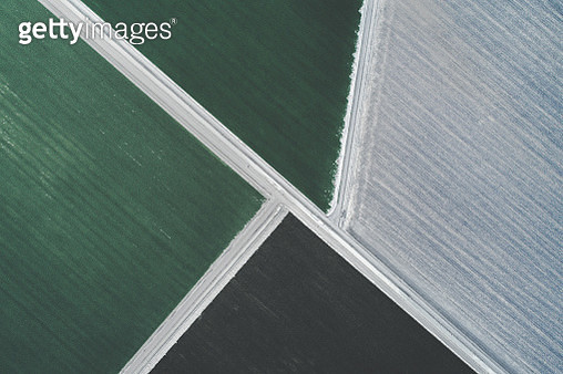 Agricultural activity shot from directly above, New South Wales, Australia - gettyimageskorea
