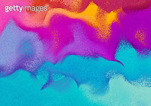 Abstract vibrant ebru painting with sand texture - gettyimageskorea