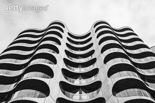 Close-up view of the Metropolis Apartment Building at Sluseholmen, a peninsula in the South Harbour of Copenhagen, capital city of Denmark. - gettyimageskorea