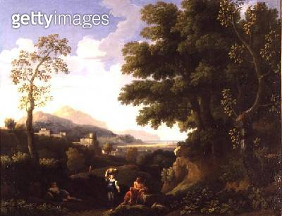 Classical Landscape with Figures - gettyimageskorea