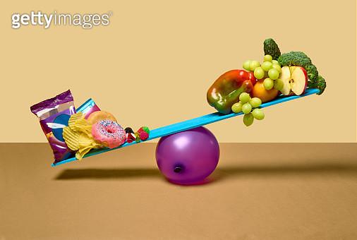 Junk vs Healthy Food - gettyimageskorea