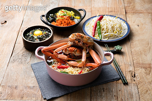 Ramen Noodles with red crab - gettyimageskorea