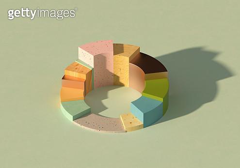 Multicolored donut/pie chart - gettyimageskorea