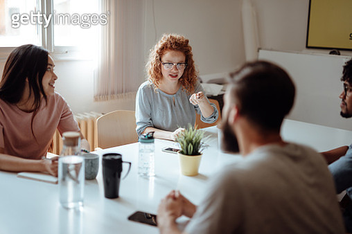 Business Meeting in a Conference Room - gettyimageskorea