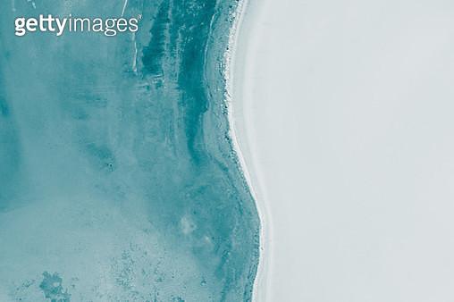 Simplistic aerial shot above Lake Dumbleyung, Australia - gettyimageskorea