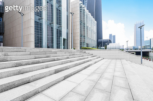 building entrance with empty steps,suzhou city,china. - gettyimageskorea